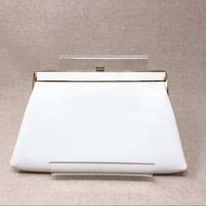 Vintage 50's 60's White Clutch Purse Harry Levine